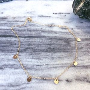 Jewelry - 🌙Dangling Coin Disc Choker Necklace 💫